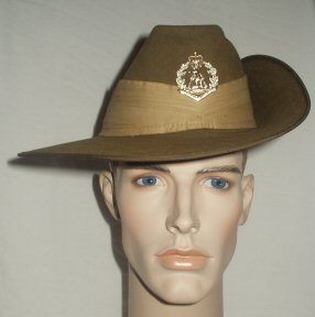 01 Royal Austrialian Regt Slouch Hat (Front)