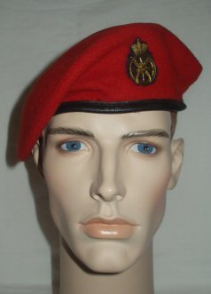 Denmark Army Combat Support Regt MPs Beret  Red (Front)