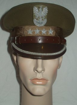 Poland Army Captains Peaked cap (Front)