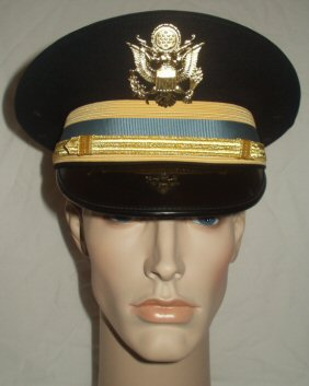 US Inf Officers Dress Blue Peaked Cap (Front)