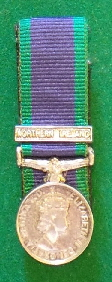 General Service Medal Northern Ireland Mniture