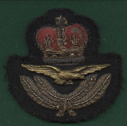 RAF Officers Cap Badge (Bullion)